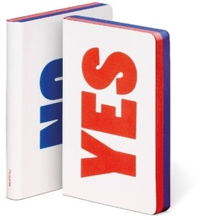 "Graphic S ""YES/NO"" Smooth Bonded Leather rot, blau, weiß"