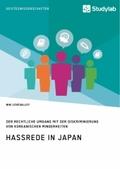 Hassrede in Japan. Der rechtliche Umgang mit der Diskriminierung von koreanischen Minderheiten