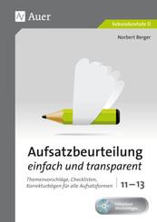 Aufsatzbeurteilung einfach und transparent 11-13, m. 1 CD-ROM