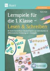 Lernspiele für die 1. Klasse - Lesen & Schreiben, m. 1 CD-ROM