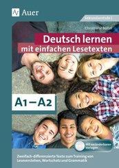 Deutsch lernen mit einfachen Lesetexten A1-A2, m. 1 CD-ROM