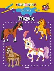 Ausmalbuch der Tiere - Pferde