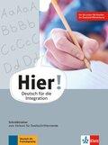 Hier! - Deutsch für die Integration: Schreibtrainer zum Vorkurs für Zweitschriftlernende
