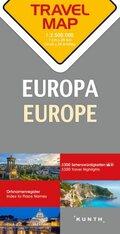 Travelmap Reisekarte Europa / Europe 1:2.500.000