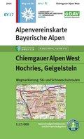 Alpenvereinskarte Chiemgauer Alpen West Hochries, Geigelstein