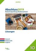 Abschluss 2019 - Realschulprüfung Niedersachsen Lösungen