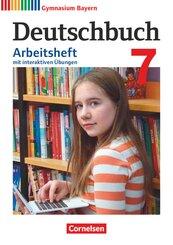 Deutschbuch, Gymnasium Bayern, Neubearbeitung: 7. Jahrgangsstufe, Arbeitsheft mit interaktiven Übungen