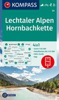 KOMPASS Wanderkarte Lechtaler Alpen, Hornbachkette