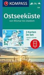 KOMPASS Wanderkarte Ostseeküste von Wismar bis Usedom