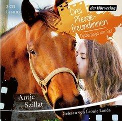 Drei Pferdefreundinnen - Diebesjagd am Set, 2 Audio-CDs