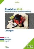 Abschluss 2019 - Hauptschulprüfung Baden-Württemberg - Lösungen