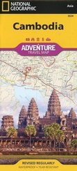 National Geographic Adventure Travel Map Cambodia