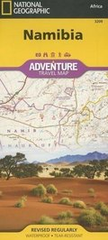 National Geographic Adventure Travel Map Namibia