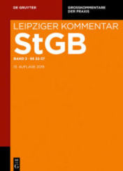 Strafgesetzbuch. Leipziger Kommentar: 32-37; Band 3