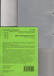 200 Griffregister-Folien; 6