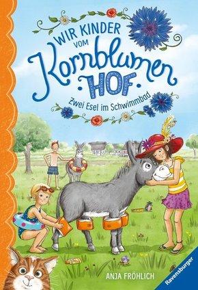 Wir Kinder vom Kornblumenhof, Band 2: Zwei Esel im Schwimmbad; .