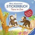 Mein allererstes Stickerbuch: Tiere im Zoo - Mit wiederablösbaren Stickern