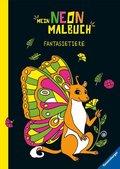Mein Neon-Malbuch - Fantasietiere