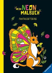 Mein Neon-Malbuch: Fantasietiere; .