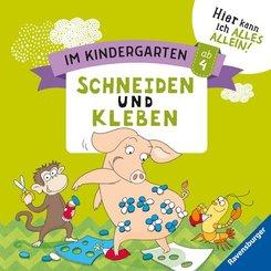 Im Kindergarten: Schneiden und Kleben