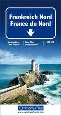 Kümmerly+Frey Karte Frankreich Nord / France du Nord Strassenkarte