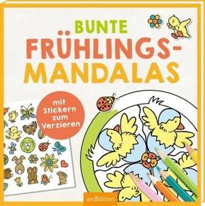 Bunte Frühlings-Mandalas