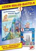 """Lesen-Malen-Basteln: Buch """"Wie Jana ihre Angst vor dem Wasser verliert"""" & Bastelset """"Bilderrahmen Seepferdchen"""", m. 1 Bu"""