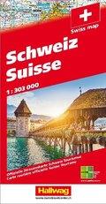 Hallwag Straßenkarte Schweiz 2019 1:303 000