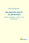 Das deutsche Lied im 18. Jahrhundert