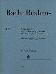 Brahms, Johannes - Chaconne aus der Partita Nr. 2 d-moll (Johann Sebastian Bach), Bearbeitung für Klavier, linke Hand