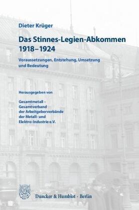 Das Stinnes-Legien-Abkommen 1918-1924
