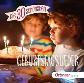 Die 30 schönsten Geburtstagslieder, 1 Audio-CD