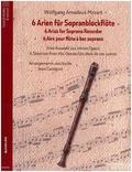 6 Arien für Sopranblockflöte, Spielpartitur