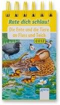 Rate dich schlau! - Die Ente und die Tiere an Fluss und Teich