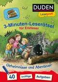 3-Minuten-Leserätsel für Erstleser - Geheimnisse und Abenteuer