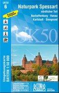 Topographische Karte Bayern Naturpark Spessart nördlicher Teil