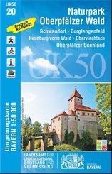 Topographische Karte Bayern Naturpark Oberpfälzer Wald