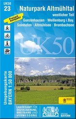 Topographische Karte Bayern Naturpark Altmühltal westlicher Teil; Band 1