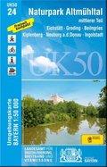 UK50-24 Naturpark Altmühltal mittlerer Teil