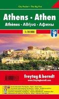 Freytag & Berndt Athen, Stadtplan 1:10.000; Athens / Athènes