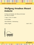 Andante KV 315 (285e), Flöte und Orchester, Klavierauszug + Solostimme