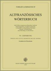 Altfranzösisches Wörterbuch. Band 12. Lieferung 94