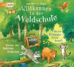 Willkommen in der Waldschule - Beste Freunde - Pfote drauf!, 2 Audio-CDs