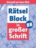 Rätselblock in großer Schrift - Bd.88