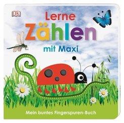Mein buntes Fingerspuren-Buch. Lerne zählen mit Maxi