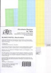 BLANKO PASTELL-GROSS Dürckheim-Griffregister Beschreibbar Nr.1804