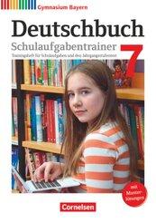 Deutschbuch, Gymnasium Bayern, Neubearbeitung: 7. Jahrgangsstufe, Schulaufgabentrainer mit Musterlösungen