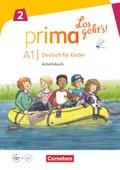 Prima - Los geht's!: Arbeitsbuch, m. Audio-CD, Audios online und Stickerbogen; 2