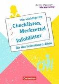 Die wichtigsten Checklisten, Merkzettel und Infoblätter für das Leiterinnen-Büro