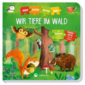 Wir Tiere im Wald - 5 Puzzles mit je 6 Teilen